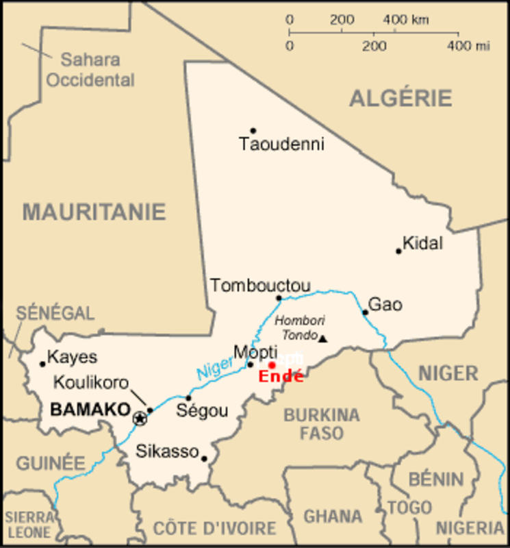 Carte du Mali (Widipedia)